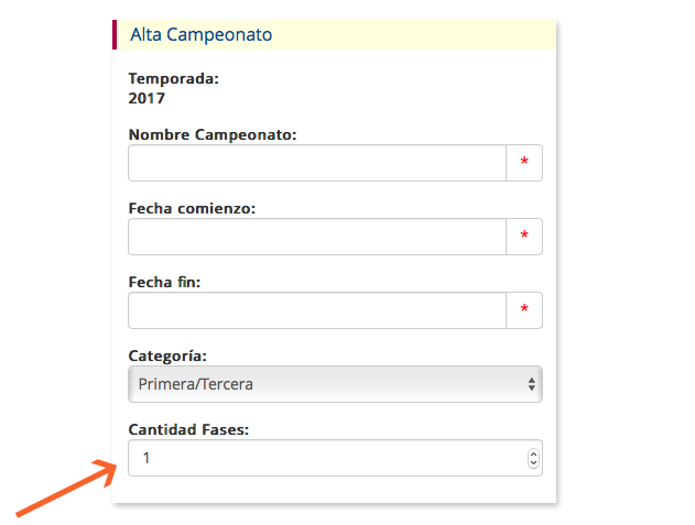 clubmanager - administracion - campeonatos fases